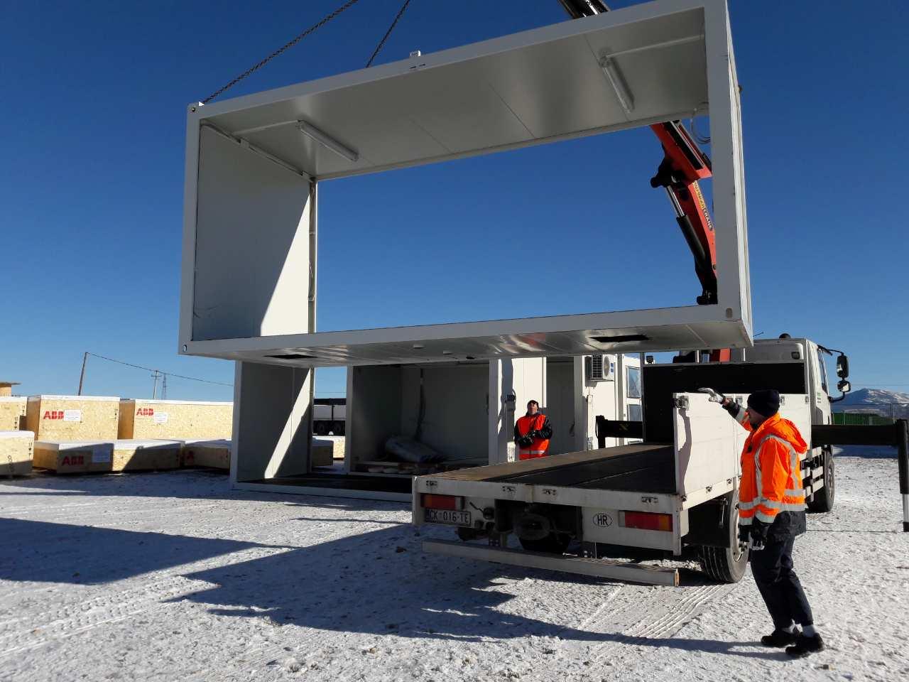 Isporuka kontejnerskog sklopa za transformatorsku stanicu VE Mesihovina