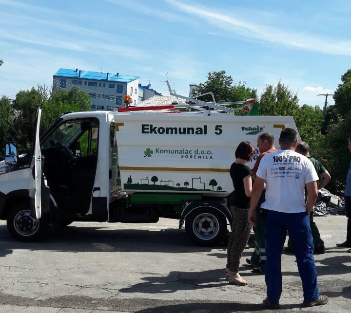 Isporuka Tehnix EKOMUNAL 5 m3 nadogradnje