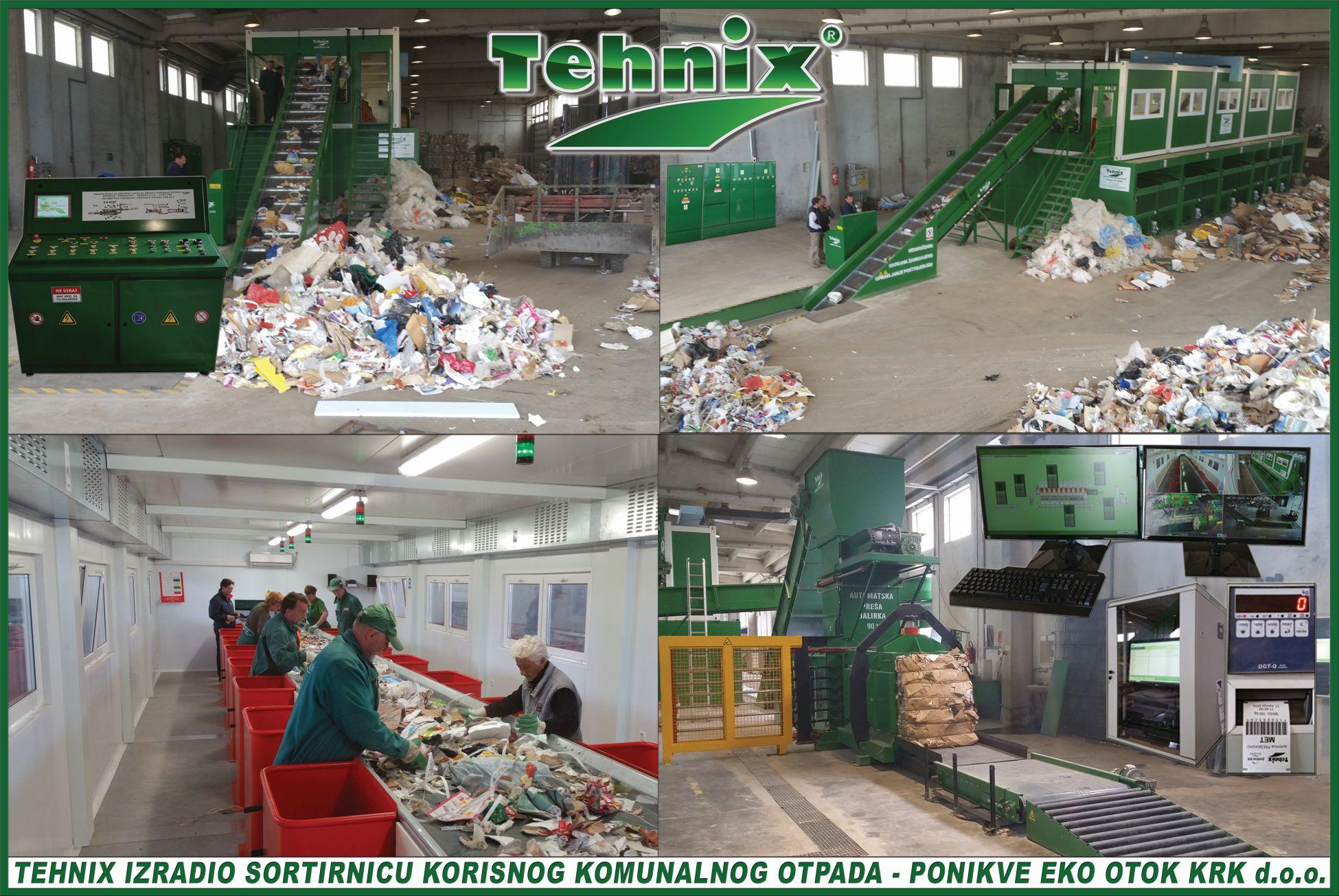 Tehnix izradio sortirnicu korisnog komunalnog otpada – Ponikve eko otok Krk d.o.o.
