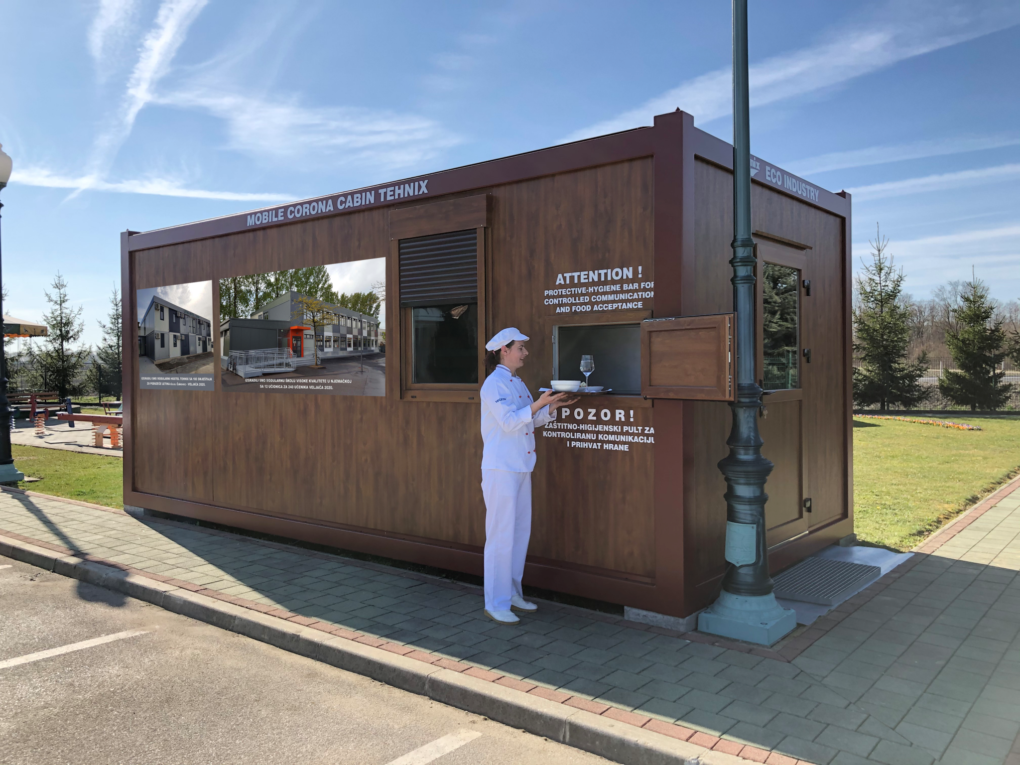 Mobile corona cabin Tehnix for viral deseases