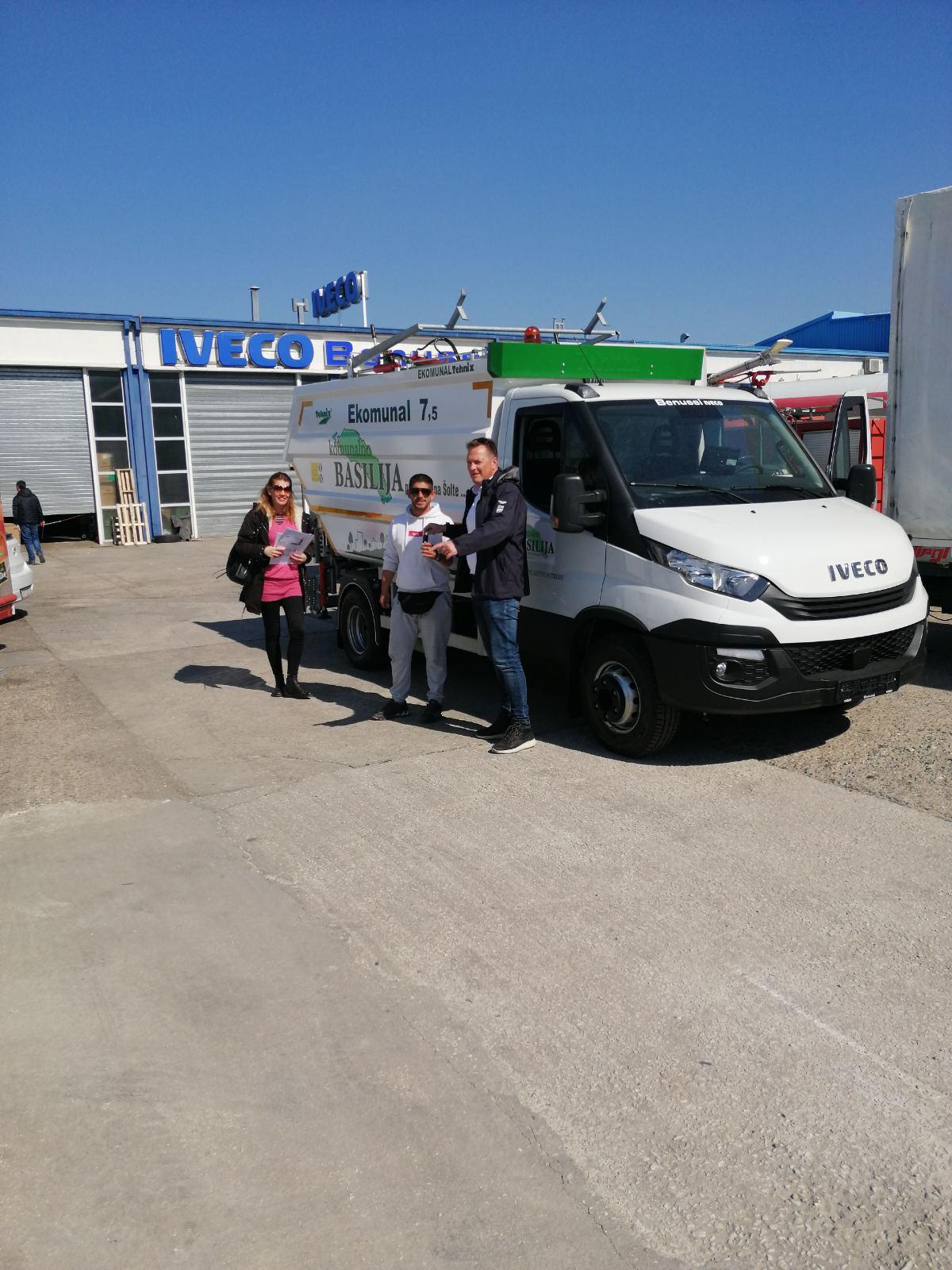 Delivery of Tehnix EKOMUNAL vehicle to the island of Šolta