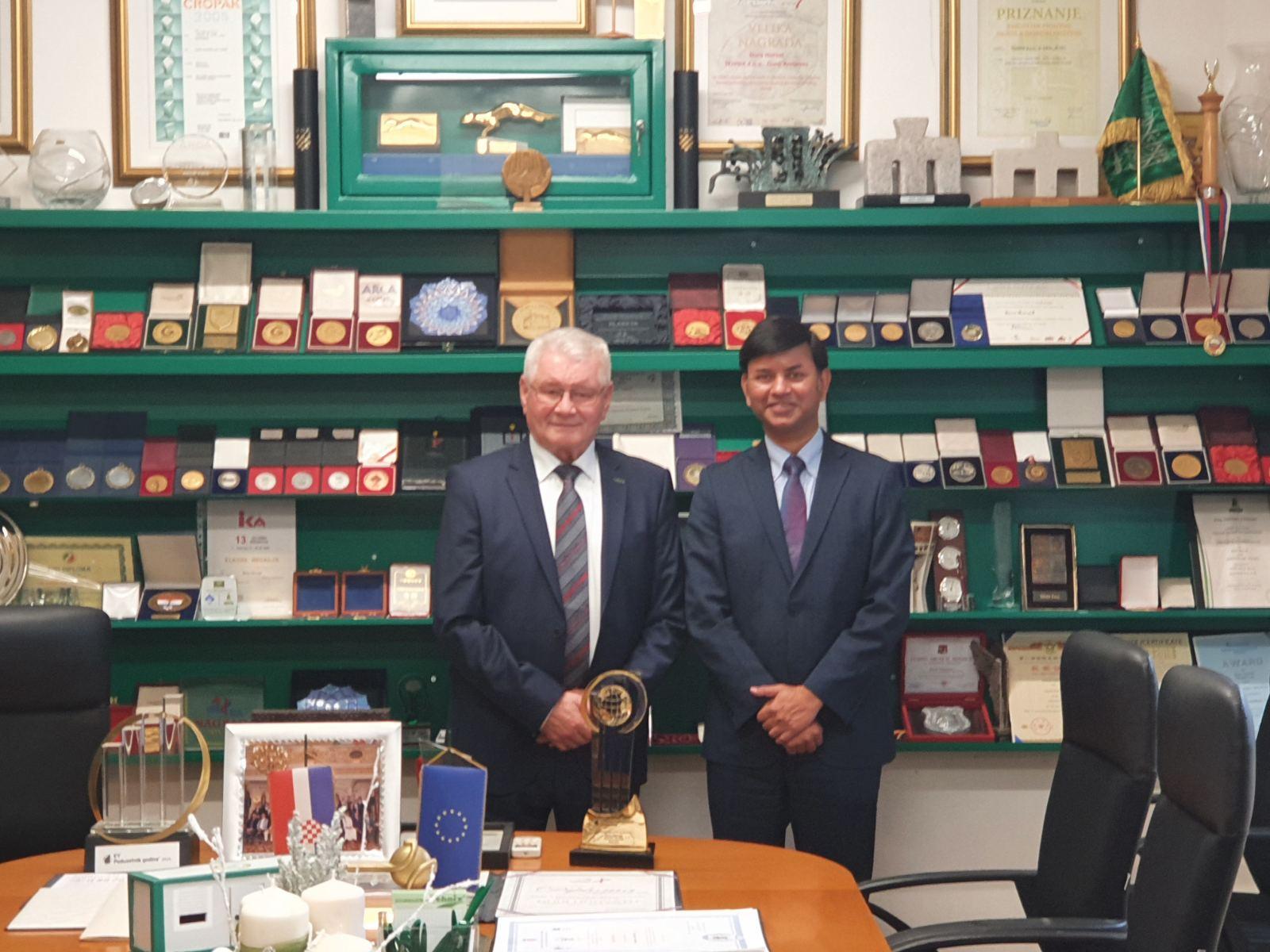 Kompanija Tehnix ugovara poslove na svjetskom tržištu – Posjeta Veleposlanika Indije Nj. E. g. Raj Kumar Srivastava