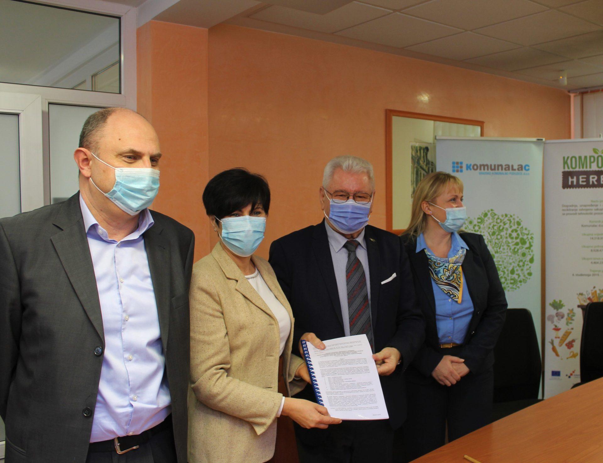 Svečano potpisan ugovor za projekt Dogradnja, unapređenje i opremanje postrojenja za recikliranje odvojeno sakupljenog biootpada u kojem se provodi tehnološki proces kompostiranja u Herešinu