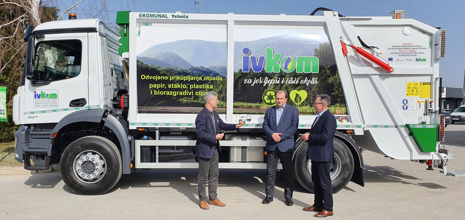Handover of the Municipal Vehicle for Ivkom d.d. Ivanec